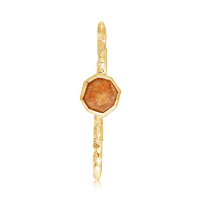 14K Yellow Gold Mandarin Garnet Lapel Pin with Yellow Plated Post and Back | ASESPECI3A1118C