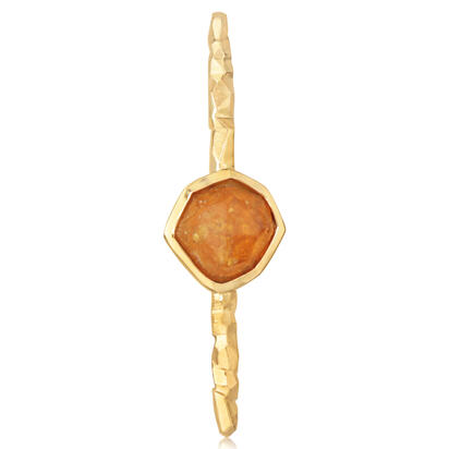 14K Yellow Gold Mandarin Garnet Lapel Pin with Yellow Plated Post and Back | ASESPECI3A1119C