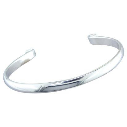 Sterling Silver 6.5 Inch Bangle | BANGLE65SI