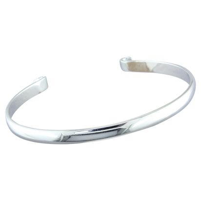 Sterling Silver 7.25 Inch Bangle | BANGLE725SI