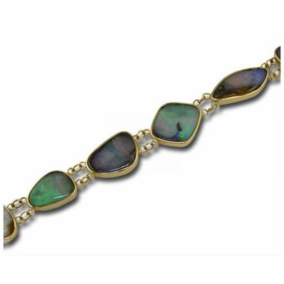 14K Yellow Gold Boulder Opal Bracelet | BB02-19I