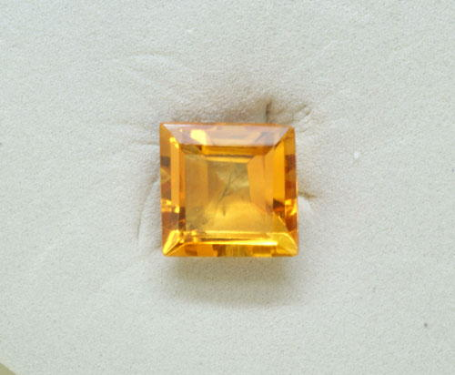 5mm Square Bufftop Citrine (0.64 ct)