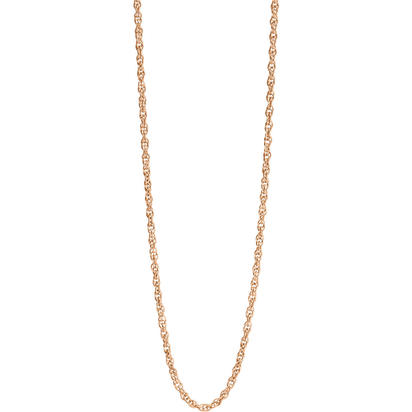 "14K Rose Gold 18"" 6rl Rope Chain 