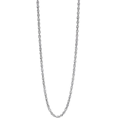 "14K White Gold 18"" 6rl Rope Chain 