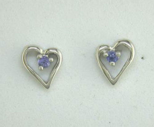 Yogo Sapphire 14K White Gold Earrings | E23XLSY2W