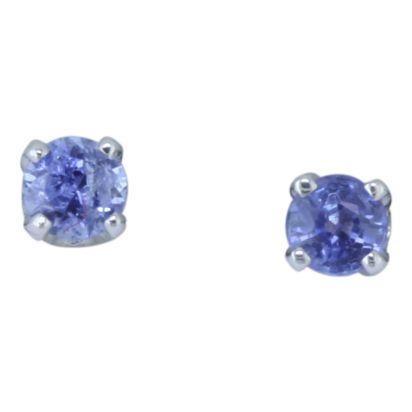 14K White Gold Yogo Sapphire Earrings | E302TSY4W