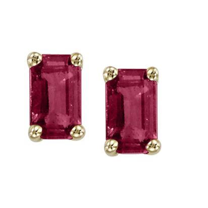 14K Yellow Gold Ruby Earrings | E37XSSR2C