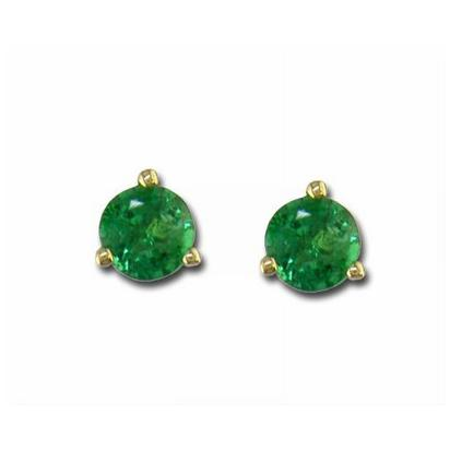 14K White Gold Emerald Martini Earrings | E402MHSE4W