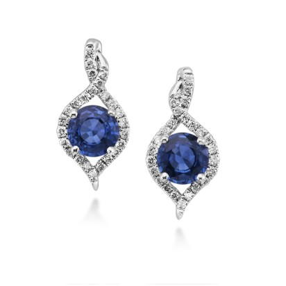 14K White Gold Semi Mount Earrings | ECC128XX2WI