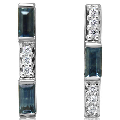 14K White Gold Montana Sapphire/Diamond Earrings | ECC205MS2WI