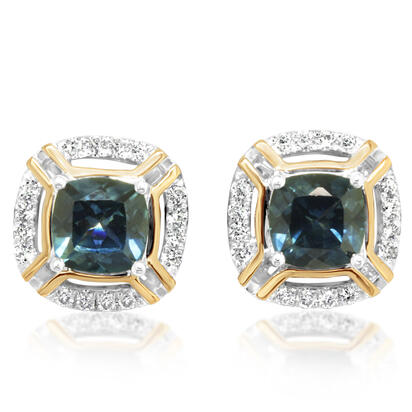 14K White and Yellow Gold Montana Sapphire/Diamond Earrings | ECC220MS2AI