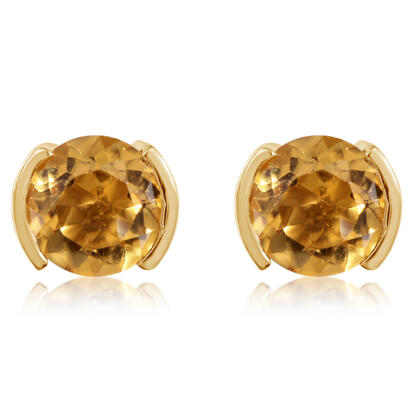 14K Yellow Gold Citrine Earrings | ECC229C2XCI
