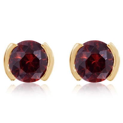 14K Yellow Gold Garnet Earrings | ECC229G2XCI