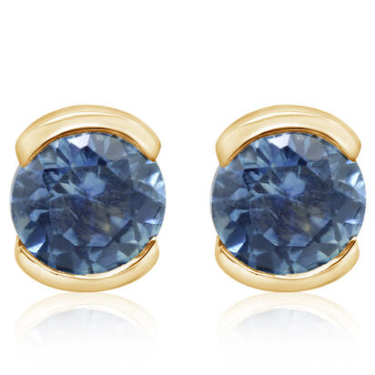 14K White Gold Blue Topaz Earrings | ECC229B2XWI