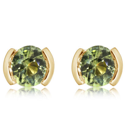 14K Yellow Gold Peridot Earrings | ECC229T2XCI
