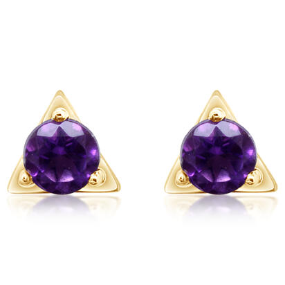 14K Yellow Gold Amethyst Earrings | ECC232A2XCI