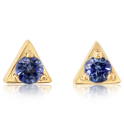 14K Yellow Gold Montana Sapphire Earrings | ECC232MSXCI