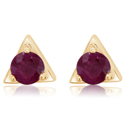 14K Yellow Gold Ruby Earrings | ECC232R2XCI