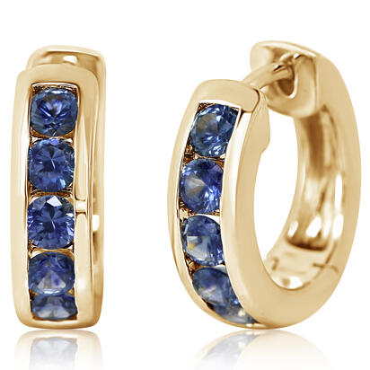 14K Yellow Gold Montana Sapphire Earrings | ECC233MSXCI