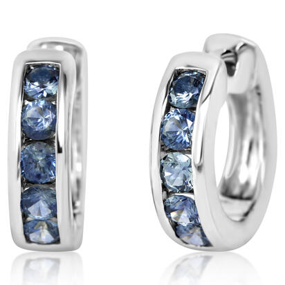 14K White Gold Montana Sapphire Earrings | ECC233MSXWI
