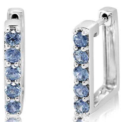 14K White Gold Montana Sapphire Earrings | ECC234MSXWI
