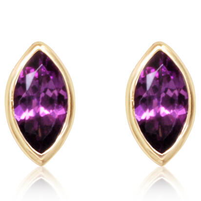 14K Yellow Gold Australian Purple Garnet Earrings | ECO052GPXCI