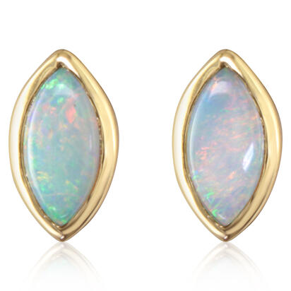 14K Yellow Gold Australian Opal Earrings | ECO052N0XCI
