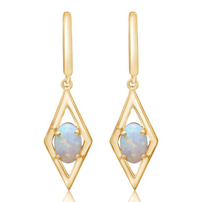 14K Yellow Gold Montana Sapphire Earrings | EPF362MSXC