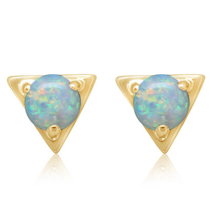 14K Yellow Gold Australian Opal Earrings | ECO232N1XCI