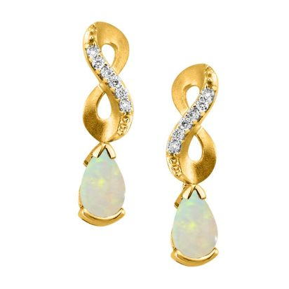 14K Yellow Gold Semi-Mount/Diamond Earrings | EPF069XX2CI