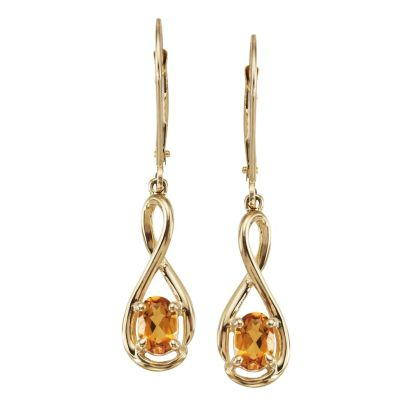 14K Yellow Gold Citrine Earrings | EPF071C2XCI