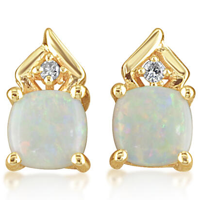 14K Yellow Gold Australian Opal/Diamond Earrings | EPF108N22CI