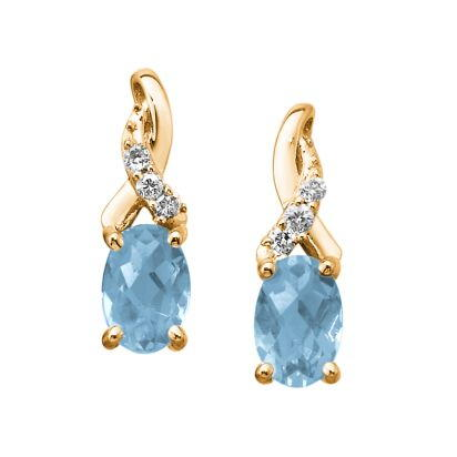 14K White Gold Australian Opal/Diamond Earrings | EPF109N22WI
