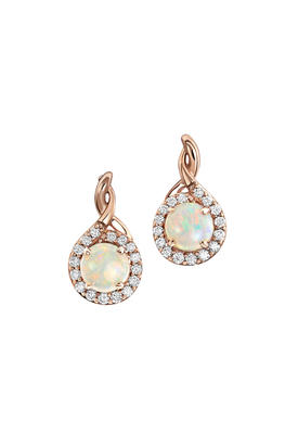 14K Rose Gold Australian Opal/Diamond Earrings | EPF194N12RI