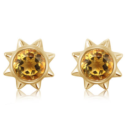 14K Yellow Gold Citrine Earrings | EPF361C2XC