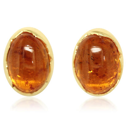 14K Yellow Gold Mandarin Garnet Earrings | ESECB980700C