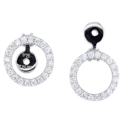 14K White Gold Diamond Halo Earrings (For 5mm Round Setting) | EPF225XX2WI-1