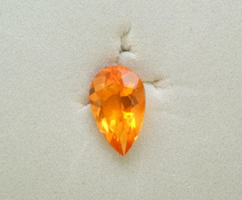 7x5 Pear Mexican Fire Opal (0.40 ct)