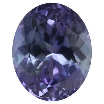 11.09x8.94x6.35 Oval Peacock Tanzanite (4.27 ct)