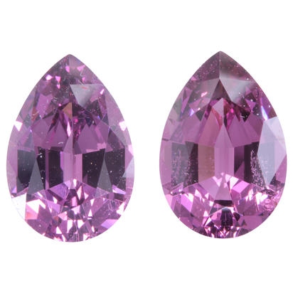 11.5x7.9 Pear Matched Pair Purple Garnet (6.95 ct)