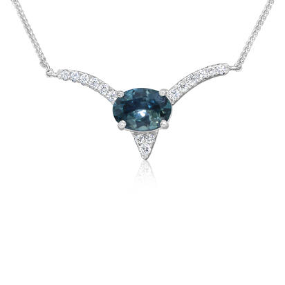14K White Gold Semi Mount/Diamond Neckpiece | NCC217XX2WI