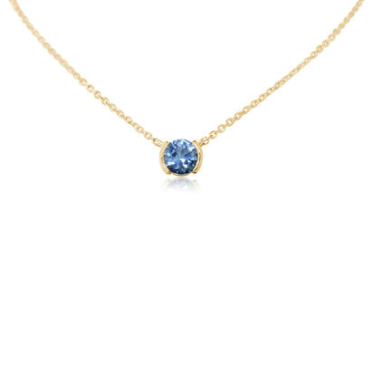 14K Yellow Gold Blue Topaz Neckpiece