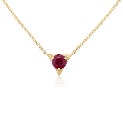 14K Yellow Gold Ruby Neckpiece | NCC232R2XCI