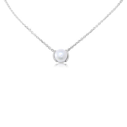 14K White Gold Freshwater Cultured Pearl Neckpiece | NCO229P2XW