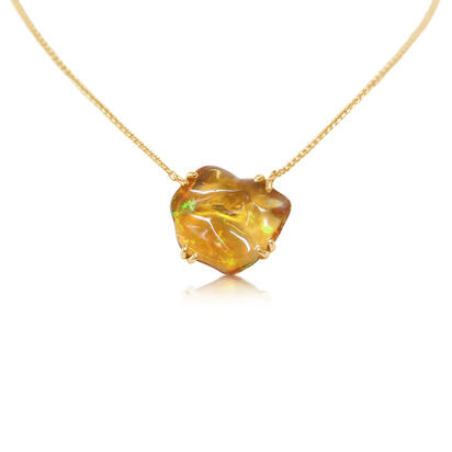 14K Yellow Gold Fire Opal Neckpiece | NFOFF150314C