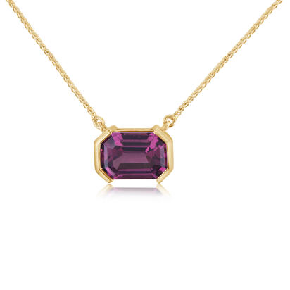 14K Yellow Gold Purple Garnet Neckpiece | NGPOC900252CI