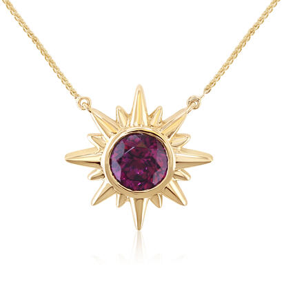 14K Yellow Gold Purple Garnet Neckpiece | NGPRD812214CI