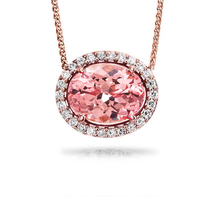 14K Rose Gold Semi-Mount/Diamond Neckpiece | NPF212XX1RI