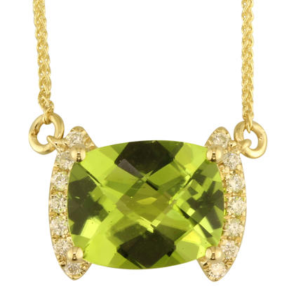 14K Yellow Gold Peridot/Diamond Neckpiece | NPF208TC2CI