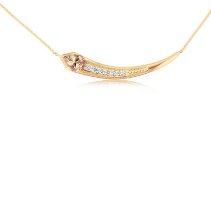 14K Rose Gold Semi-Mount/Diamond Neckpiece | NPF230XX2RI